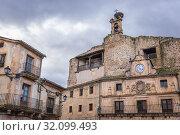 Купить «Former castle of Fernan Gonzalez on main square of Sepulveda town in Province of Segovia, Castile and Leon autonomous community in Spain.», фото № 32099493, снято 23 января 2019 г. (c) easy Fotostock / Фотобанк Лори