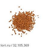 Heap of freeze dried instant coffee isolated. Стоковое фото, фотограф Anton Eine / Фотобанк Лори