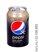 Купить «Pepsi Dark Vanilla», фото № 32108805, снято 30 августа 2019 г. (c) Art Konovalov / Фотобанк Лори