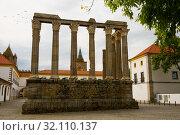 Roman Temple of Evora, Portugal (2019 год). Стоковое фото, фотограф Яков Филимонов / Фотобанк Лори