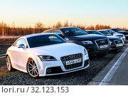 Купить «Audi TTS», фото № 32123153, снято 17 июня 2017 г. (c) Art Konovalov / Фотобанк Лори