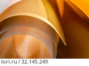 Background horizontal art photography in gold and yellow tones. Стоковое фото, фотограф Olesya Tseytlin / Фотобанк Лори