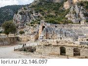 Ruins of ancient city Myra, Turkey (2017 год). Стоковое фото, фотограф Юлия Белоусова / Фотобанк Лори