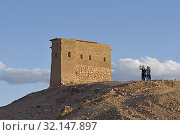 Highest point of the Ksar of Ait-Ben-Haddou, Ounila River valley, Ouarzazate Province, region of Draa-Tafilalet, Morocco, North West Africa. (2019 год). Редакционное фото, фотограф Christian Goupi / age Fotostock / Фотобанк Лори
