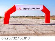 Купить «Start gate for racing Mitsubishi motors», фото № 32150813, снято 23 сентября 2018 г. (c) FotograFF / Фотобанк Лори