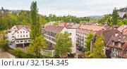 Panoramic view of Bern old town (2017 год). Редакционное фото, фотограф EugeneSergeev / Фотобанк Лори