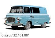 Купить «Vector retro van», иллюстрация № 32161881 (c) Александр Володин / Фотобанк Лори