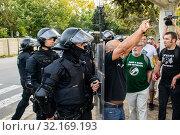 Купить «September 11, 2019 - Manifestation against the catalan politicians in front of the Catalonia Parliament in Barcelona.», фото № 32169193, снято 11 сентября 2019 г. (c) age Fotostock / Фотобанк Лори