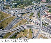 Купить «Barcelona flyover interchange», фото № 32170937, снято 24 мая 2018 г. (c) Яков Филимонов / Фотобанк Лори