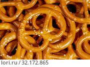 Купить «Full frame macro shot of some lye pretzels», фото № 32172865, снято 22 ноября 2019 г. (c) easy Fotostock / Фотобанк Лори