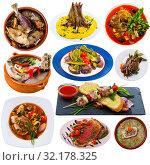 Купить «Collection of mutton meals», фото № 32178325, снято 4 июля 2020 г. (c) Яков Филимонов / Фотобанк Лори