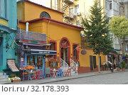 Maya's corner cafe. Стамбул, Турция (2018 год). Редакционное фото, фотограф Светлана Колобова / Фотобанк Лори