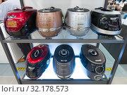 Купить «Kitchen domestic appliances store, Seoul», фото № 32178573, снято 26 марта 2017 г. (c) Александр Подшивалов / Фотобанк Лори