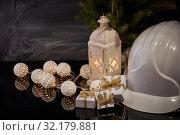 Купить «New Year and Christmas construction», фото № 32179881, снято 17 августа 2019 г. (c) Мельников Дмитрий / Фотобанк Лори