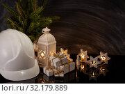 Купить «New Year and Christmas construction», фото № 32179889, снято 17 августа 2019 г. (c) Мельников Дмитрий / Фотобанк Лори