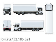 Купить «Vector truck template isolated on white background», иллюстрация № 32185521 (c) Александр Володин / Фотобанк Лори