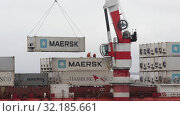 «Севморпуть» — ледокольно-транспортное судно (лихтеровоз) с атомной силовой установкой. Редакционное видео, видеограф А. А. Пирагис / Фотобанк Лори