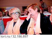 17.09.2011 Warsaw, Poland. Pictured: Danuta Hubner, Magdalena Sroda. Редакционное фото, фотограф Nafalski Rajmund / age Fotostock / Фотобанк Лори