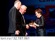 11.06.2012 Warsaw, Poland. `Teraz Polska` gala. Pictured: Ewa Kopacz. Редакционное фото, фотограф Brykczynski Donat / age Fotostock / Фотобанк Лори