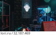 Купить «RUSSIA, KAZAN 10-09-2019: Secret Alien Research Lab», видеоролик № 32187469, снято 20 октября 2019 г. (c) Константин Шишкин / Фотобанк Лори