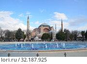 Вид на Святую Софию. Стамбул, Турция (2018 год). Стоковое фото, фотограф Светлана Колобова / Фотобанк Лори