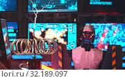 Купить «Secret Alien Research Lab - A Robot Controls the Work in thouse Walls - electric current generating machine on the foreground - technology exhibition», видеоролик № 32189097, снято 19 октября 2019 г. (c) Константин Шишкин / Фотобанк Лори