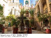 Монастырь Святого Герасима Иорданского, монастырь Иерусалимской православной церкви. Израиль (2016 год). Стоковое фото, фотограф Наталья Волкова / Фотобанк Лори