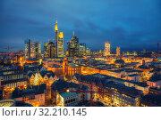 Frankfurt at dusk (2012 год). Стоковое фото, фотограф Sergey Borisov / Фотобанк Лори