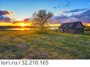 Купить «Colorful sunset in a countryside», фото № 32210165, снято 3 мая 2019 г. (c) Sergey Borisov / Фотобанк Лори
