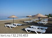 Купить «Утро на Эгейском море, пляж Чалыш (Калис), Фетхие, Турция», фото № 32210453, снято 12 июня 2019 г. (c) Natalya Sidorova / Фотобанк Лори