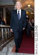 11.06.2012 Warsaw, Poland. `Teraz Polska` Gala. Pictured: Jerzy Buzek. Редакционное фото, фотограф BE&W AGENCJA FOTOGRAFICZNA SP. / age Fotostock / Фотобанк Лори