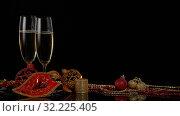 Купить «Champagne. New year and Christmas.», фото № 32225405, снято 15 ноября 2018 г. (c) Мельников Дмитрий / Фотобанк Лори