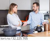 Купить «Couple finding out relationship», фото № 32225705, снято 24 мая 2018 г. (c) Яков Филимонов / Фотобанк Лори