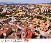Aerial view on the city Guadalajara. Castile-La-Mancha. Spain (2019 год). Стоковое фото, фотограф Яков Филимонов / Фотобанк Лори