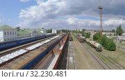 Passenger cars and freight cars (2019 год). Редакционное видео, видеограф Потийко Сергей / Фотобанк Лори