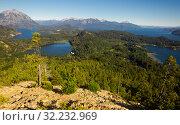 Lago Nahuel Huapi and Cerro Campanario (2017 год). Стоковое фото, фотограф Яков Филимонов / Фотобанк Лори