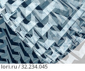 Abstract 3d multy-layer background. Стоковая иллюстрация, иллюстратор EugeneSergeev / Фотобанк Лори
