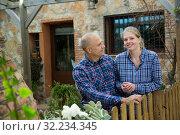 Купить «Outdoors portrait of spouses», фото № 32234345, снято 15 декабря 2018 г. (c) Яков Филимонов / Фотобанк Лори