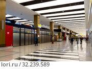 Купить «Аэропорт Шереметьево, терминал B, зона прилета. Москва», фото № 32239589, снято 19 февраля 2019 г. (c) Ольга Сейфутдинова / Фотобанк Лори