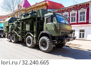 Купить «Army multi-purpose mobile communication complex», фото № 32240665, снято 5 мая 2018 г. (c) FotograFF / Фотобанк Лори