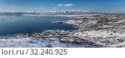 Купить «Петропавловск-Камчатский, панорама зимой», фото № 32240925, снято 3 февраля 2019 г. (c) А. А. Пирагис / Фотобанк Лори
