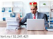 Купить «King businessman at his workplace», фото № 32241421, снято 24 июня 2019 г. (c) Elnur / Фотобанк Лори