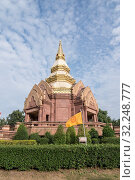 Купить «The Wat Pha Salawan in the city Khorat or Nakhon Ratchasima in Isan in Noertheast Thailand. Thailand, Khorat, November, 2017», фото № 32248777, снято 17 февраля 2020 г. (c) age Fotostock / Фотобанк Лори