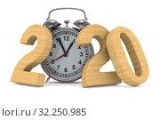 Купить «2020 new year. Isolated 3D illustration», иллюстрация № 32250985 (c) Ильин Сергей / Фотобанк Лори