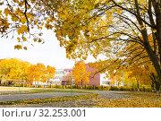 Осень в городе. Стоковое фото, фотограф Кристина Викулова / Фотобанк Лори