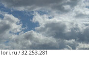 Купить «Only sky. Beautiful panorama of blue sky with white clouds. Effect of flying among clouds. Relaxing view of moving transforming clouds. Full HD Time Lapse», видеоролик № 32253281, снято 3 апреля 2020 г. (c) Dmitry Domashenko / Фотобанк Лори