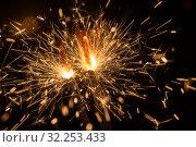 Купить «Sparks close up», фото № 32253433, снято 29 сентября 2015 г. (c) Argument / Фотобанк Лори
