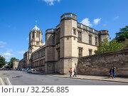 Башня Тома и Крайст-черч колледж. Оксфорд. Великобритания (2019 год). Стоковое фото, фотограф Сергей Афанасьев / Фотобанк Лори