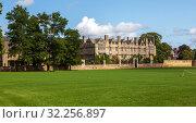 Мертон-Колледж. Вид через луг Крайст-Черч. Оксфорд. Великобритания (2019 год). Стоковое фото, фотограф Сергей Афанасьев / Фотобанк Лори