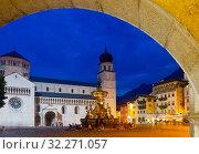 Central square of Italian Trento (2019 год). Редакционное фото, фотограф Яков Филимонов / Фотобанк Лори